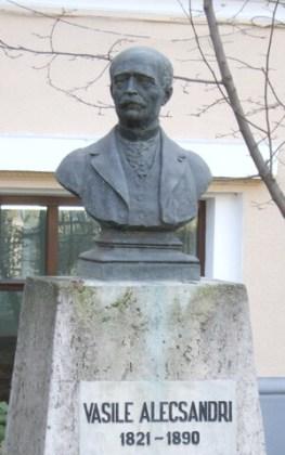 Bustul lui Vasile Alecsandri, Bacău