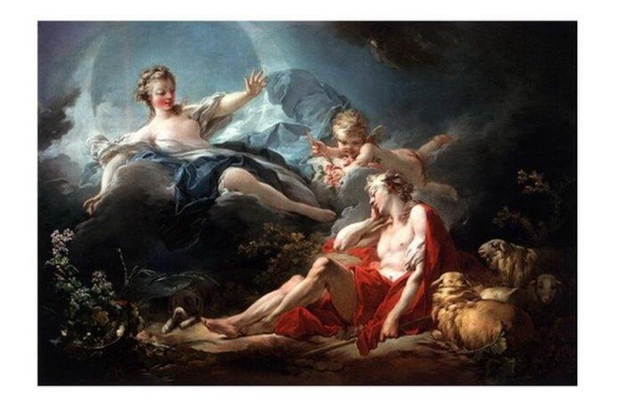 """Jean-Honoré Fragonard, """"Diana și Endymion"""", c. 1753 – 1756"""