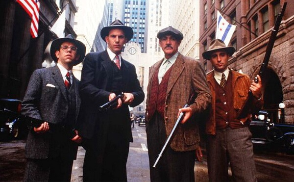 "Imagine din filmul ""The Untouchables"" (1987)"