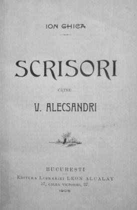 București, Editura Librăriei Leon Alcalay, 1905
