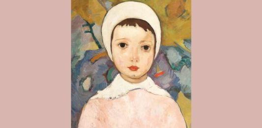 """Nicolae Tonitza, """"Fetiță cu bonetă albă"""""""