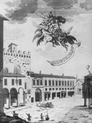 Piazza Piccola din Cremona în 1731