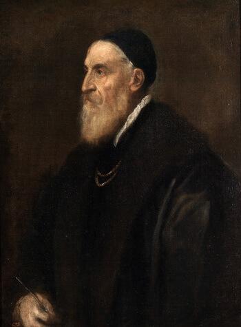 Tițian, ultimul Autoportret, 1560, ulei pe pânză, 86 × 65 cm, Muzeul Prado, Madrid