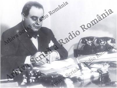 Vasile Ionescu, director al Societății Române de Radiodifuziune. Sursa foto: Arhiva scrisă a SRR