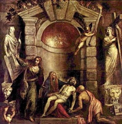 "Tiţian, ""Pietà"", 351 x 389 cm, Gallerie dell'Academie, Veneţia"