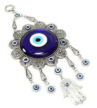 Amuletă – Mărgica de deochi cu mâna Fatimei