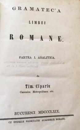 Ediție sub egida Societății Academice Române, 1869