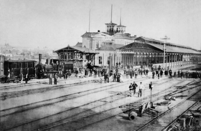 Gara de Nord, la inaugurarea din 13/25 septembrie 1872. Sursa foto: Muzeul CFR