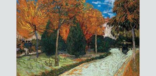 "Vincent van Gogh, ""Grădină toamna"""