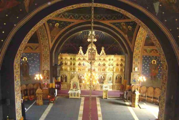 Biserica Sf. Nicolae din Comarnic, catapeteasma pictata de Dimitrie Belizarie