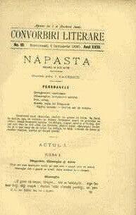 """""""Năpasta"""", în """"Convorbiri literare"""", ianuarie 1890"""