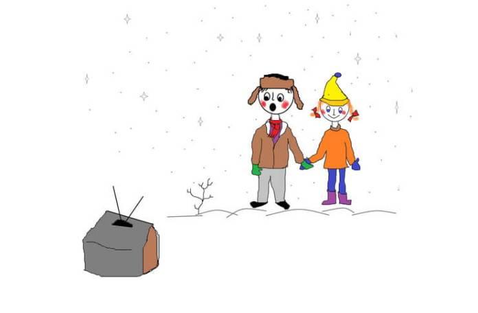 """""""Licuță și Zburlita"""", desen de Lică Barbu"""