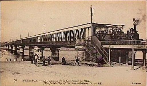 Podul feroviar de la Bordeaux. Sursa: Wikipedia