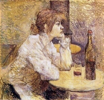 """Toulouse-Lautrec, """"Mahmureală"""" (portretul Suzannei Valadon, circa 1888"""