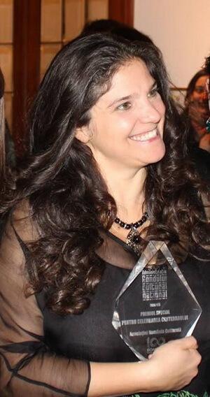 Anca Beatrice Todireanu la primirea Premiului pentru Celebrarea Centenarului oferit de AFCN, 15 ianuarie 2018