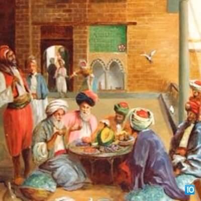 Poeți purtând discuții despre cele zece opere importante ale literaturii de divan. Sursa: Divan Edebiyati