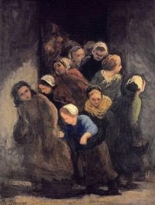 """""""Copii plecând de la școală"""" cca. 1847"""