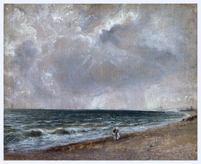 """""""Plajă la Brighton"""", 1824 – 1828"""