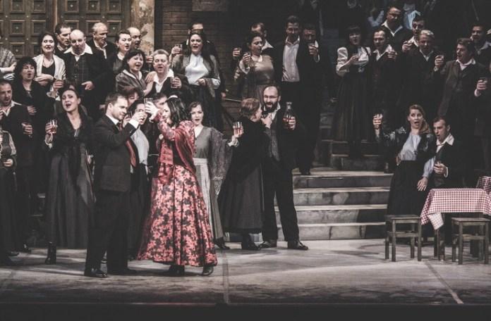 """Imagine din spectacolul """"Cavalleria rusticana"""", Opera Națională București"""