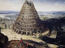 """Lucas van Valckenborch, """"Turnul Babel"""", 1594"""