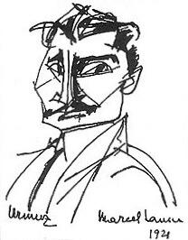 Urmuz, portret de Marcel Iancu, 1921