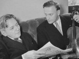 George Enescu și Yehudi Menuhin