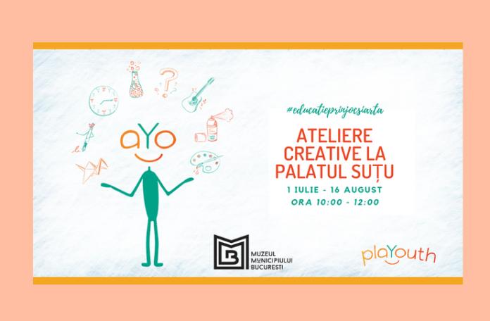 Ateliere creative la Palatul Suțu organizate de Asociația PlaYouth