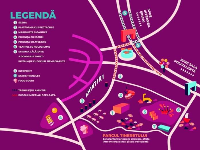 """Harta Festivalului """"Amintiri din copilărie"""""""