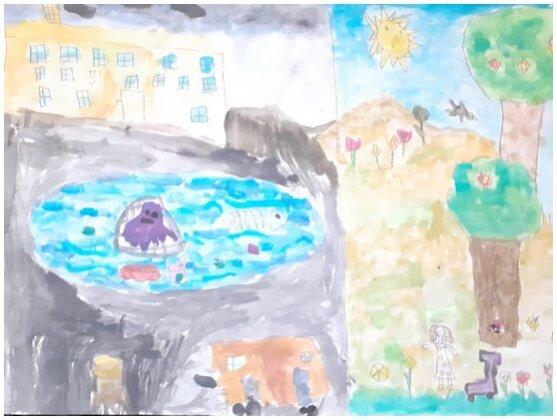 """Desene de Briana-Maria Băjenaru, 10 ani, membră a grupului artistic """"Nino Nino"""""""