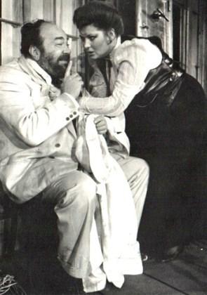 """Florina Cercel și George Constantin în """"Vassa Jeleznova"""" de Maxim Gorki, 1988"""