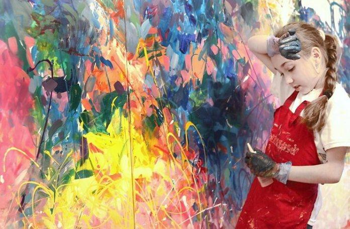 "Maia Truțulescu, ""Joy of colours"", detaliu"