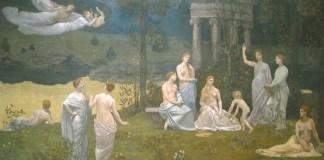 """Pierre Puvis de Chavannes, """"Le Bois sacré cher aux arts et aux Muses"""""""