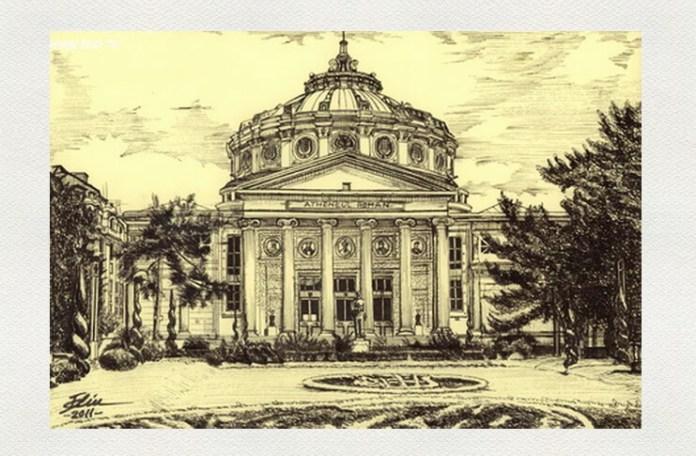 Ateneul Român, desen de Bogdan Calciu