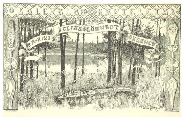 "Ilustrație de Leopold (Leo) Henrik Stanislaus Mechelin din vol. ""Finland in the Nineteenth Century by Finnish authors"""