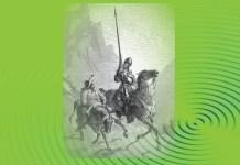 """În imagine: Don Quijote și Sancho Panza, ilustrație de Gustave Doré la romanul """"Don Quijote"""" de Cervantes"""