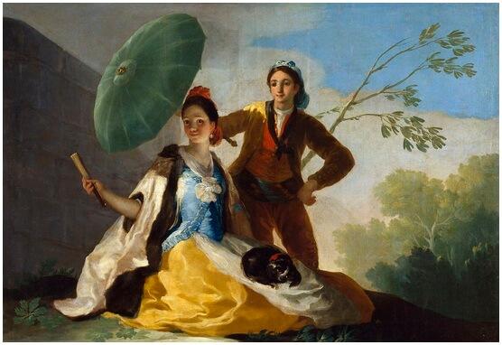 """Francisco Goya, """"Umbrela de soare"""", 1777"""