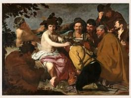 """Diego Velázquez, """"Triumful lui Bacchus"""" (""""Los Borrachos""""),1628–1629, Muzeul Prado, Madrid"""
