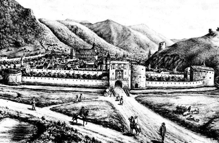 Brașovul înainte de incendiul din 1689