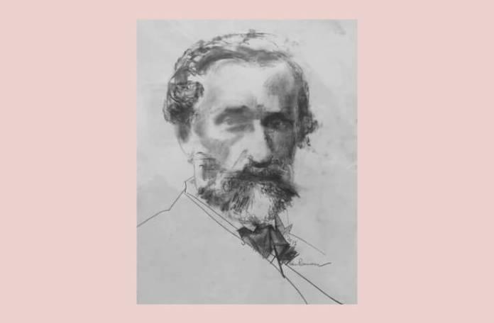 Giuseppe Verdi, portret de Adina Romanescu, 2015
