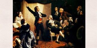 """Isidore Pils, """"Rouget de Lisle cântând «Marseilleza»"""", 1849, Musée historique de Strasbourg"""