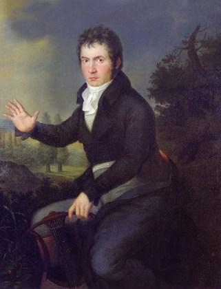 """Joseph Willibrord Mähler, """"Ludwig van Beethoven"""", 1804–1805"""