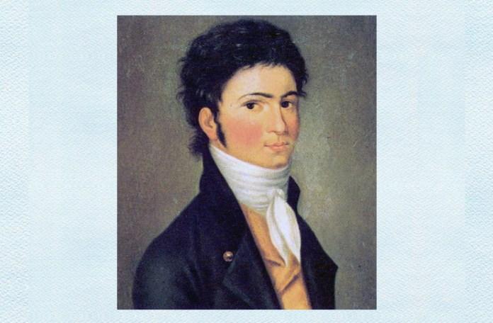 Ludwig van Beethoven, portret de Carl Traugott Riedel, 1801