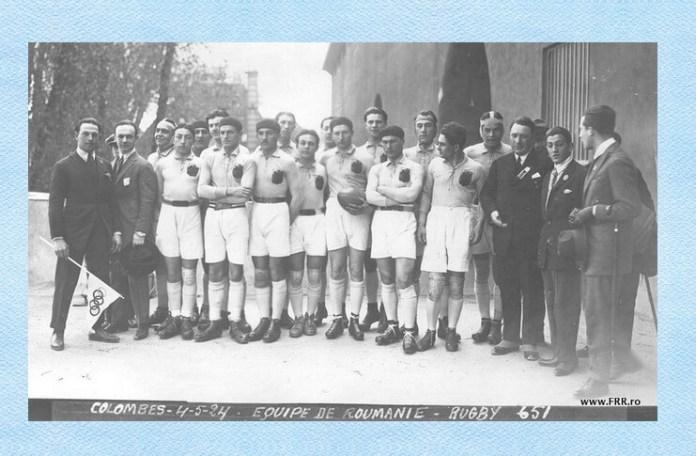 Echipa de rugby a României, Paris, 1924. Sursa foto: Federația Română de Rugby