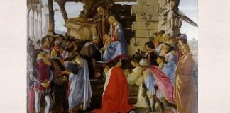 """Sandro Botticelli, """"Adoratia Magilor"""" (Zanobi Altar), Galeriile Uffizi din Florenţa"""