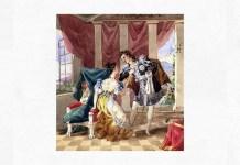 """Scenă din """"Nunta lui Figaro"""", actul I, scena 19. Acuarelă de autor anonim, înainte de 1900"""