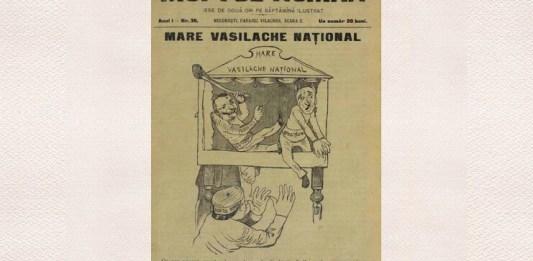 """""""Moftul român"""", seria I, anul I, nr. 36, 10 iunie 1893, p. 1. Caricatură de Jiquidi"""