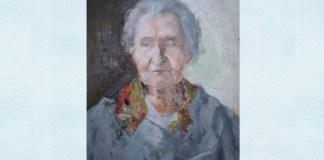 """Adina Romanescu, """"Bunica"""", ulei pe pânză, 2010"""