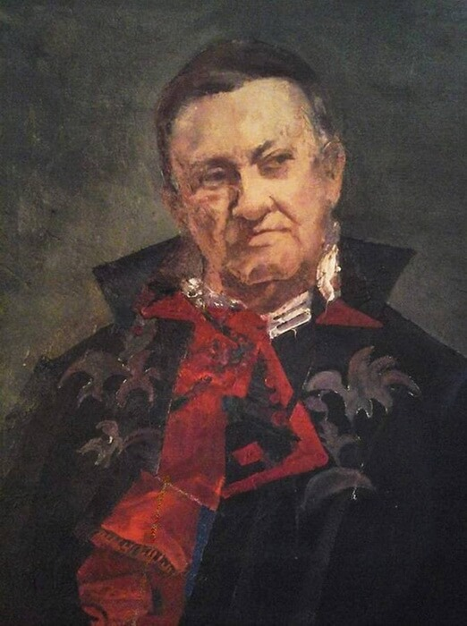 Nicolae Herlea (28 august 1927, București–24 februarie 2014, Frankfurt pe Main, Germania). Portret de Adina Romanescu, ulei pe pânză, 2018. Copyright © Adina Romanescu