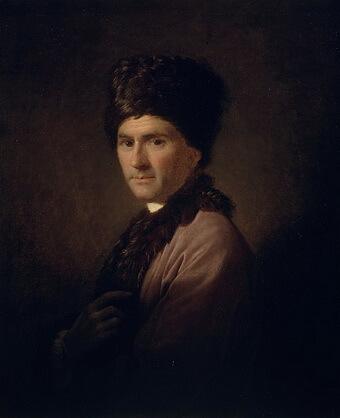 Allan Ramsay (1713–1784), Jean-Jacques Rousseau îmbrăcat în costum arrmenesc, 1766