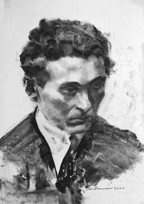 Ionel Teodoreanu, portret de Adina Romanescu, 12 iulie 2020. Inedit, Copyright © Adina Romanescu